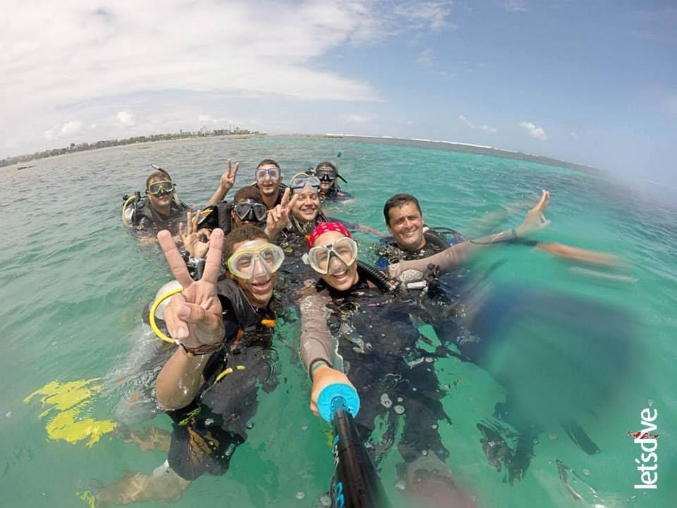 Mergulho na Praia de Pajuçara na Piscina do amor em Maceió