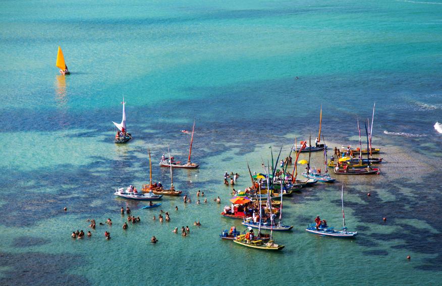 Jangadas em Jatiúca, Maceió Alagoas