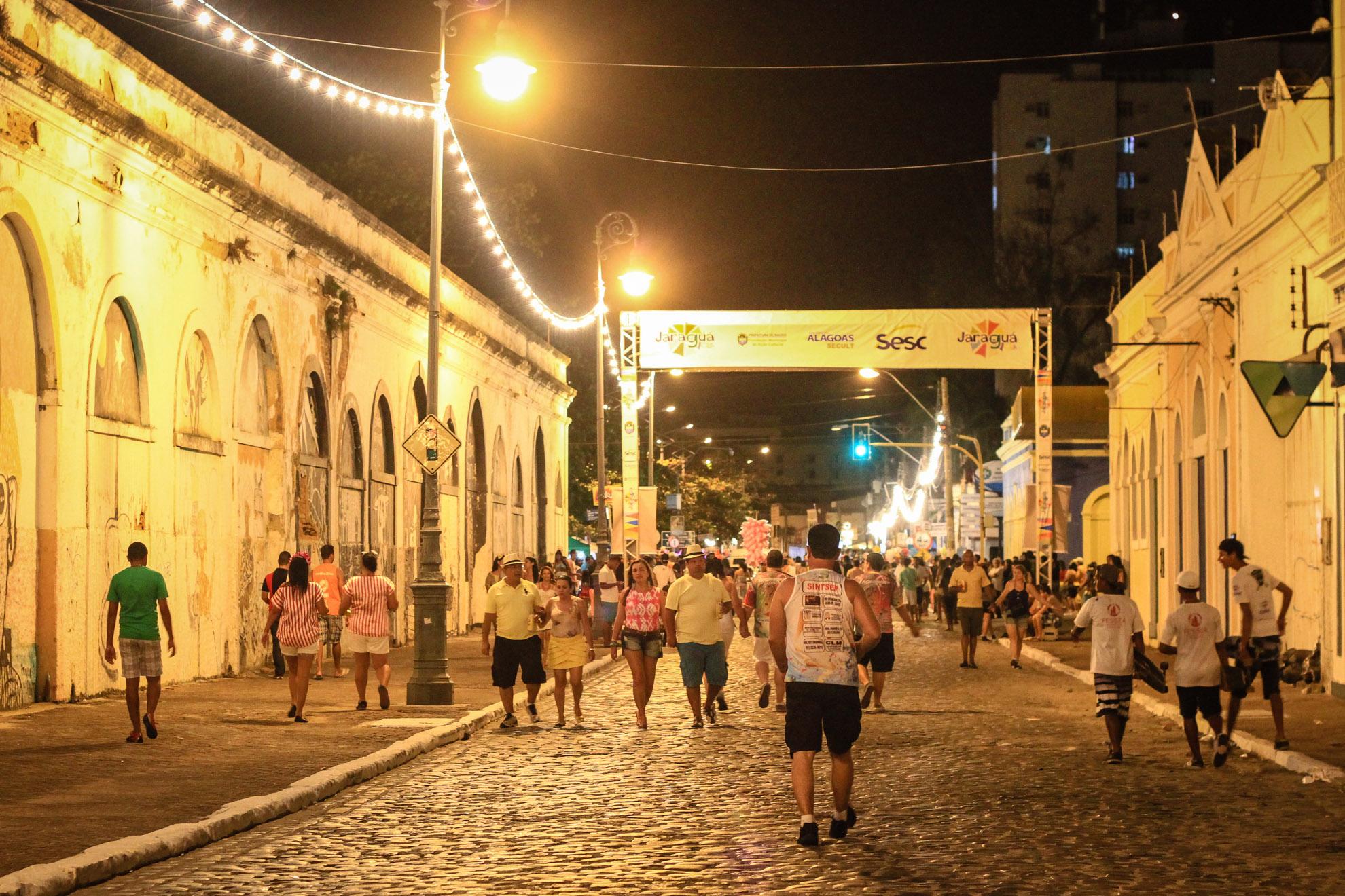 Bairro histórico do Jaraguá em Maceió São João 2018