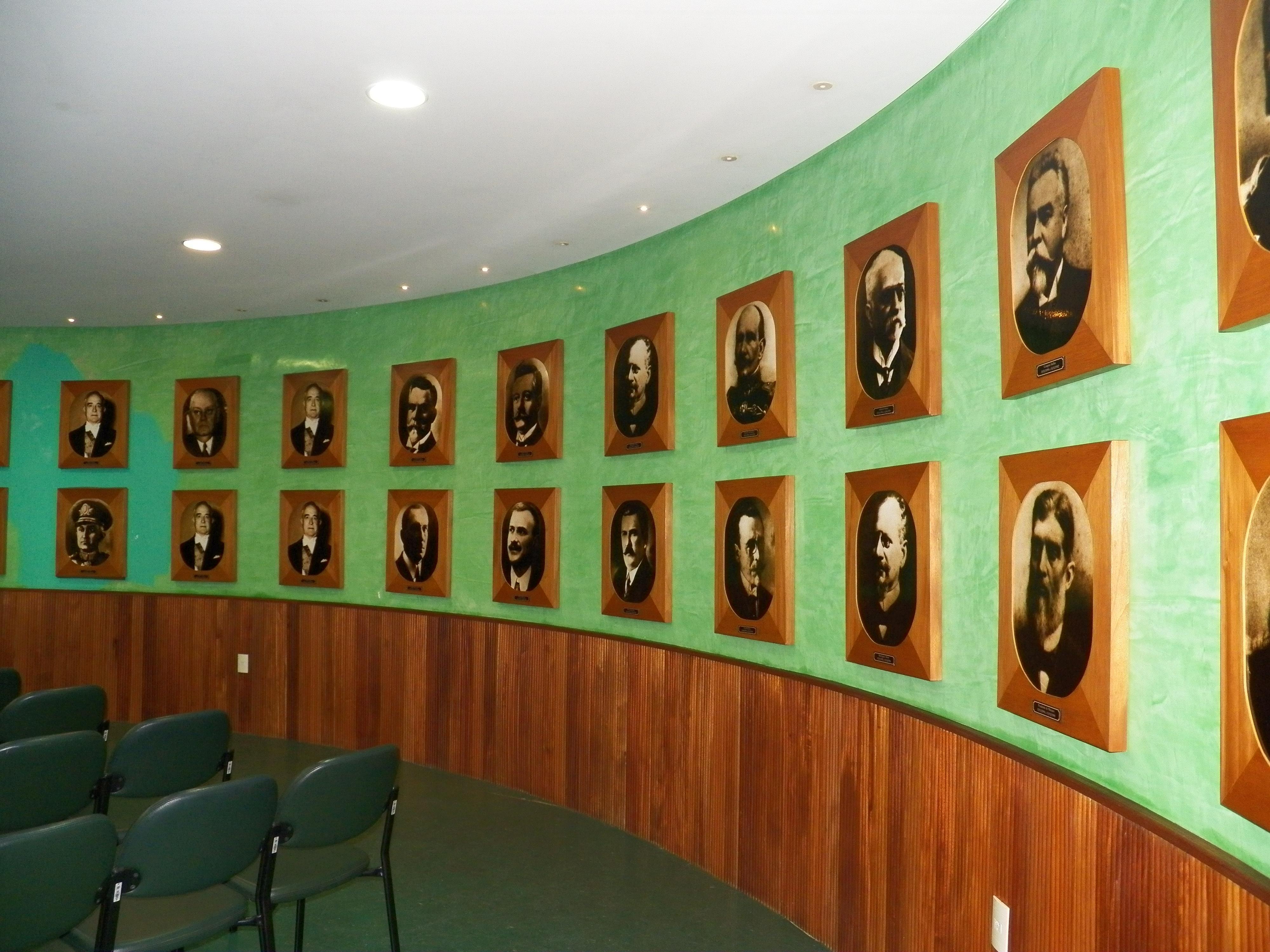 Imagens dos presidentes no Memorial da República, no bairro de Jaraguá em Maceió Alagoas
