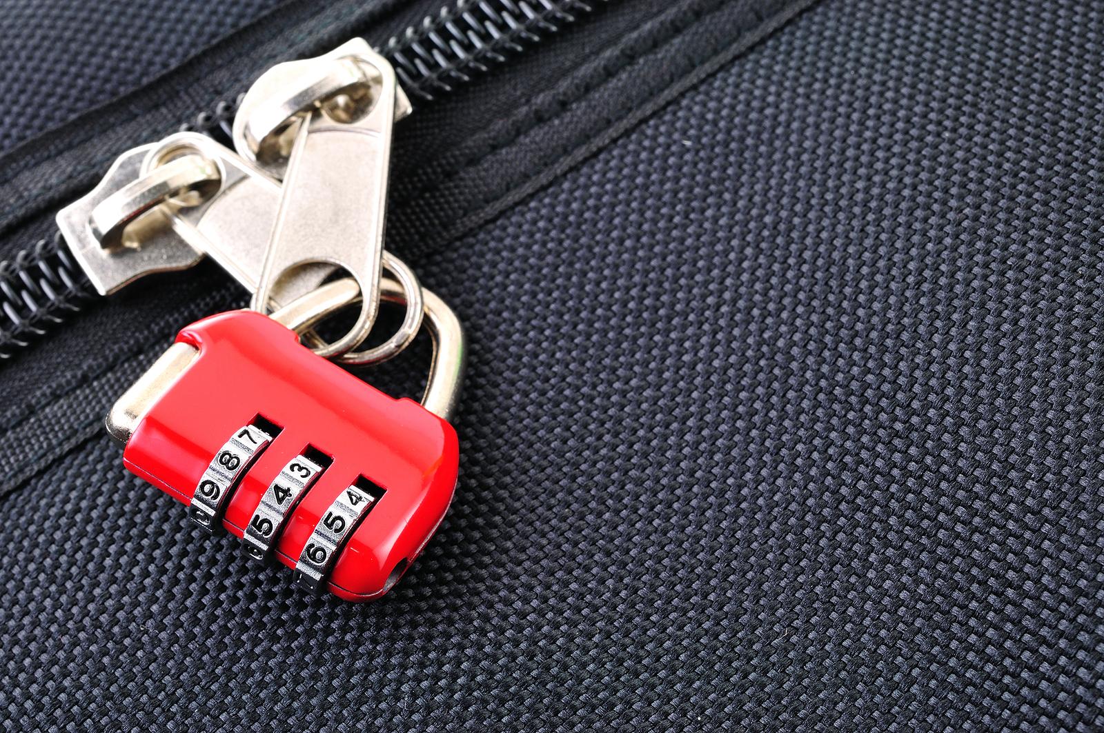 Cadeado para mala de viagem corporativa