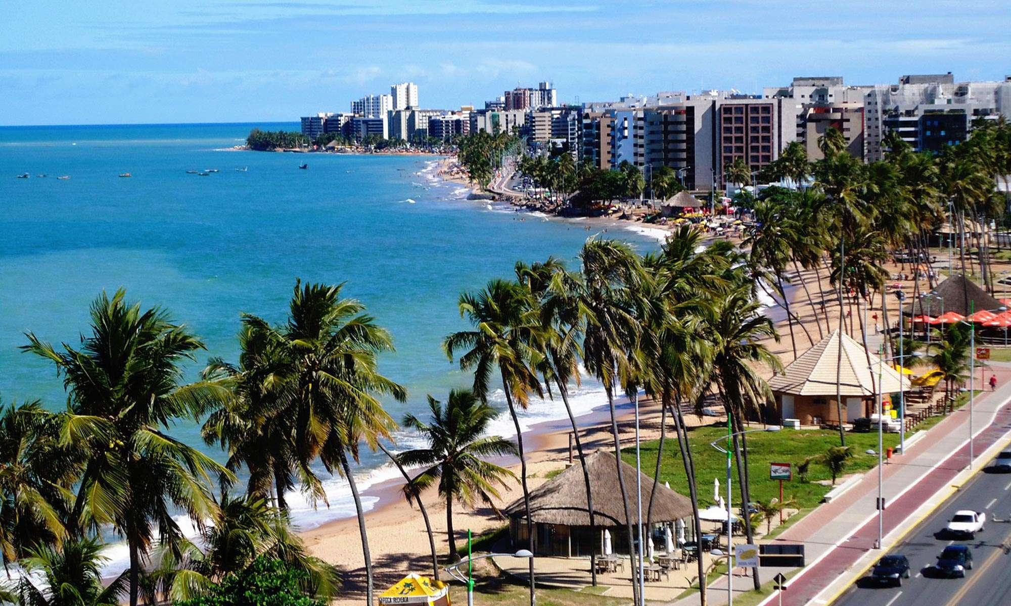 Orla marítima da Jatiúca, Maceió Alagoas
